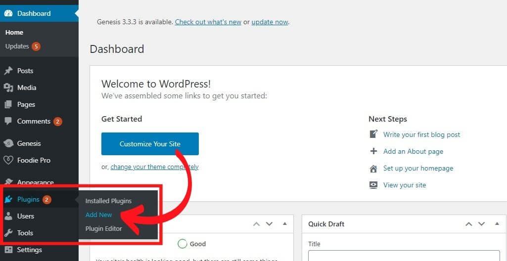 how to install a wordpress plugin step 1