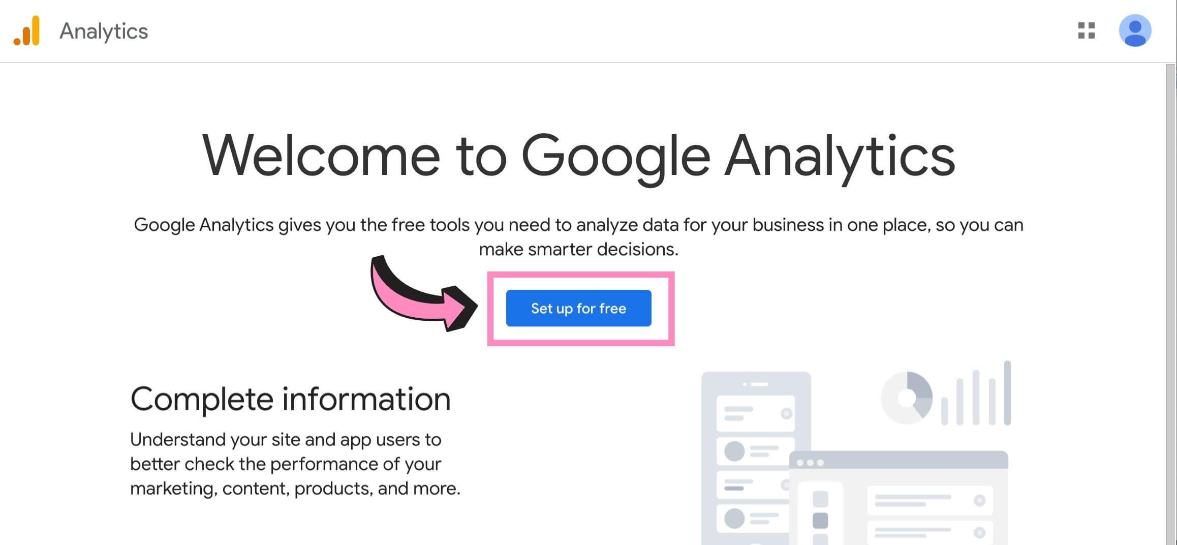 how to set up google analytics account 02
