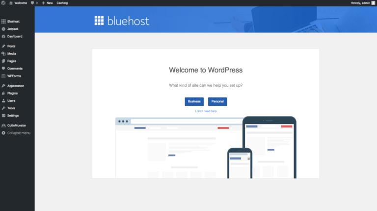 how to start a wordpress blog bluehost start buliding