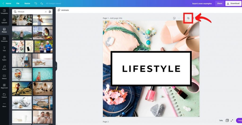 12 create a board cover pinterest on canva