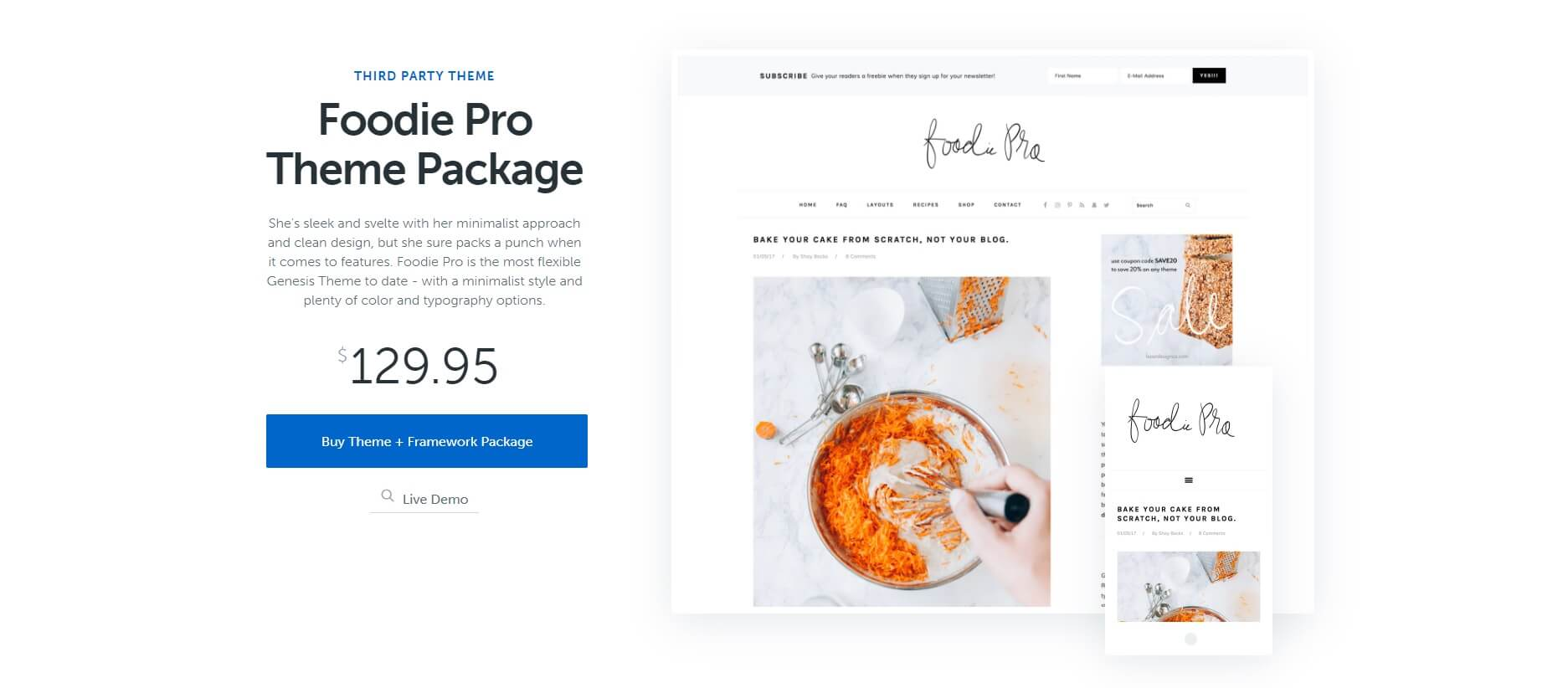 foodie pro theme packpage